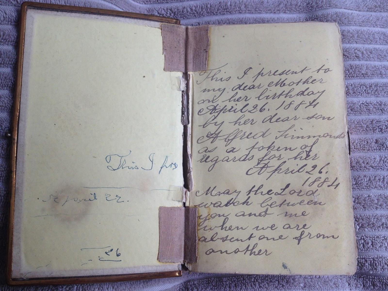 Sarah Simmonds Family Bible (Sarah Cant) – Lynn's Waffles