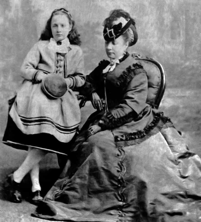 Eleanor Blanche with Mother Anne Elizabeth Haviland (Grubbe)