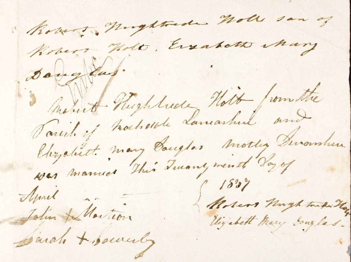 Elizabeth Mary Douglas & Robert Hughtrede Holt