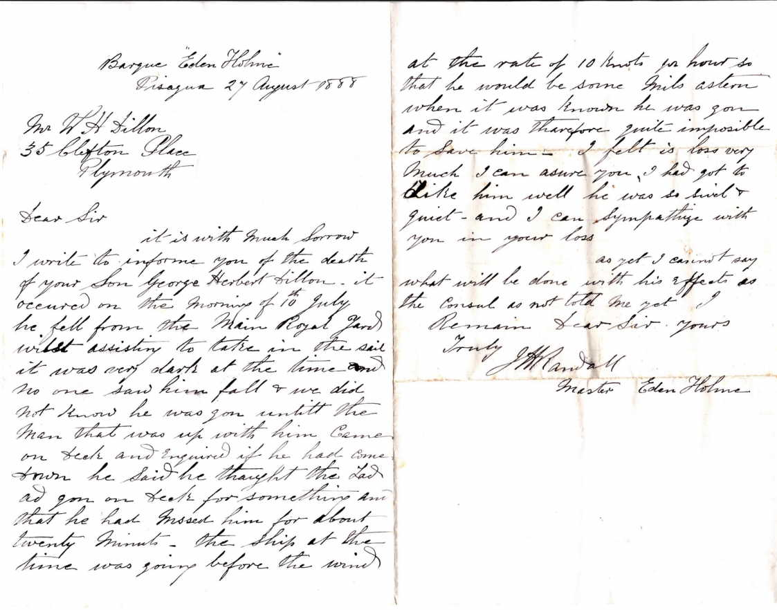 Letter to Father in 1888