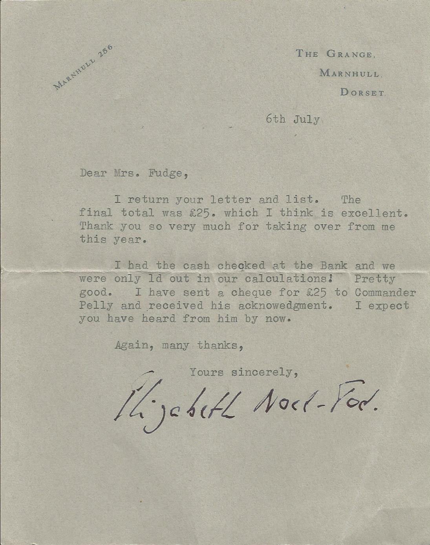 Fudge Letter