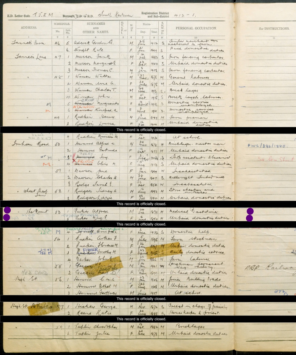 alfred & may eugenie 1939 register ink