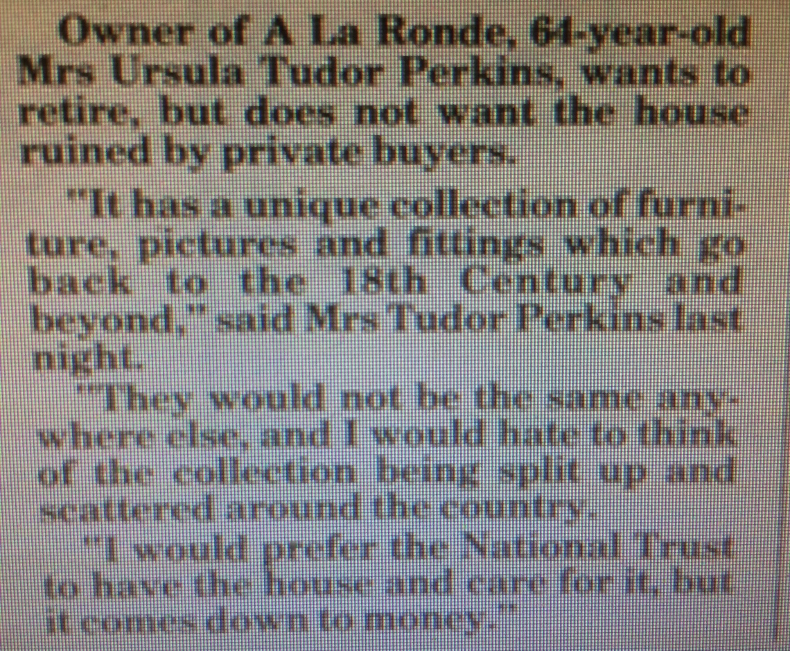 ursula words before sale of a la ronde