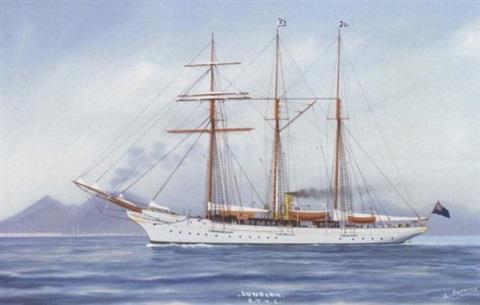 luca-papaluca-lord-brasseys-steam-yacht-sunbeam-off-naples