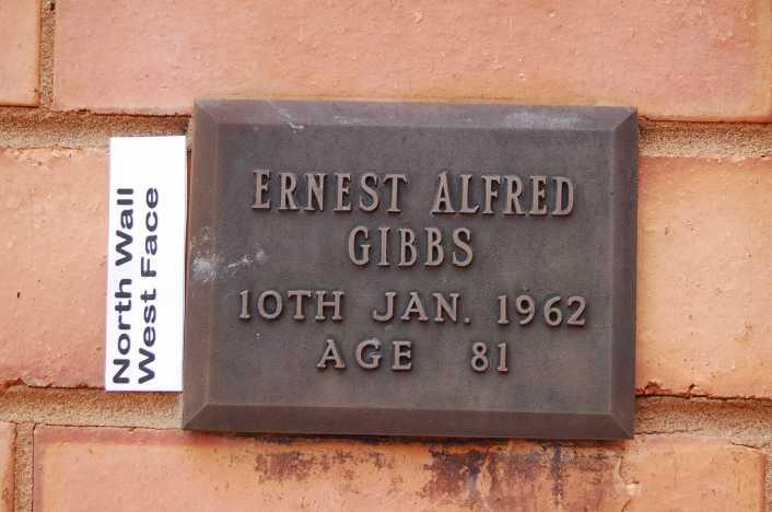GIBBS Ernest Alfred headstone Shepparton Vic Aus
