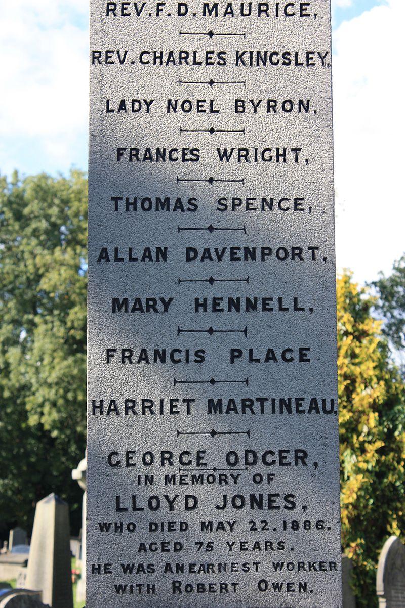 Base_of_the_Reformers_Memorial,_Kensal_Green_Cemetery,_showing_Lloyd_Jones