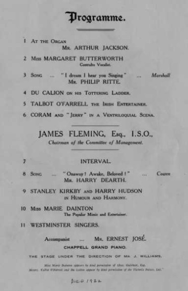 James Fleming Says died 1922