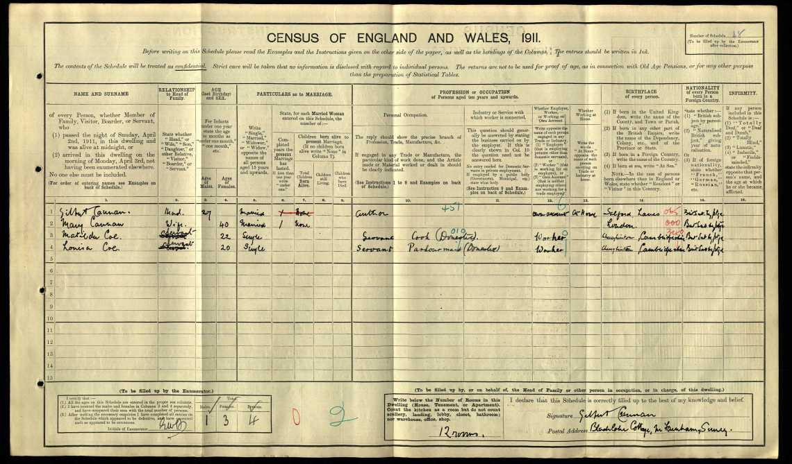 Mary Ansell Cannan 1911 census.jpg