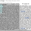 The Stage – Thursday 05 June 1913