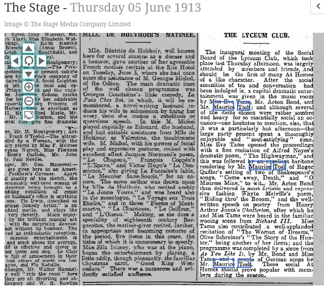 The Stage - Thursday 05 June 1913