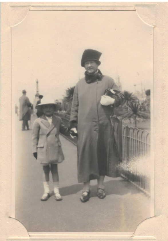 Annie Rose with eldest Grandson John Pepperrell Guthrie Dow